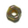 Glass Cut Crowbead 9mm Yellow